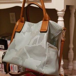 Mint colored (no brand) purse